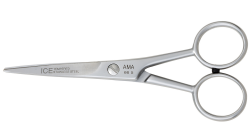 The AMA 66 has ice tempered, satin finish, stainless steel blades, that have a micro serration to hold the hair whilst cutting. A perfect begginer entry level scissor.